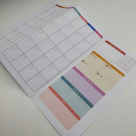 monthly planner trifold version for traveler s notebook etsy com