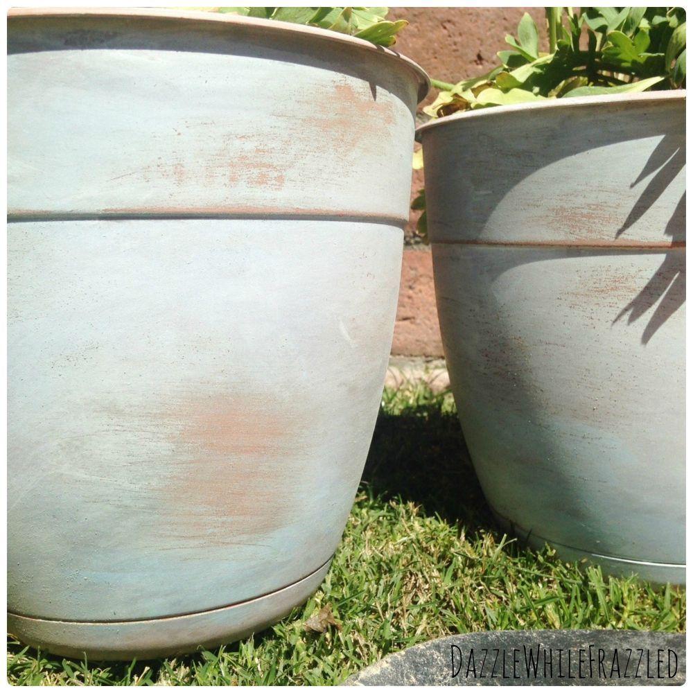 how to  u0026quot age u0026quot  plastic faux terra cotta flower pots