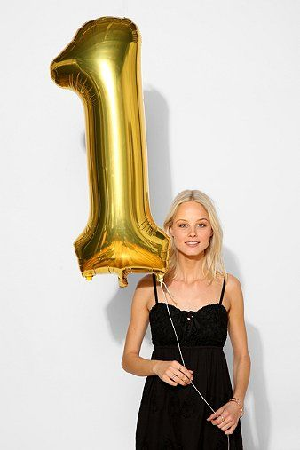 $6 Gold Number Party Balloon - Urban Outfitters
