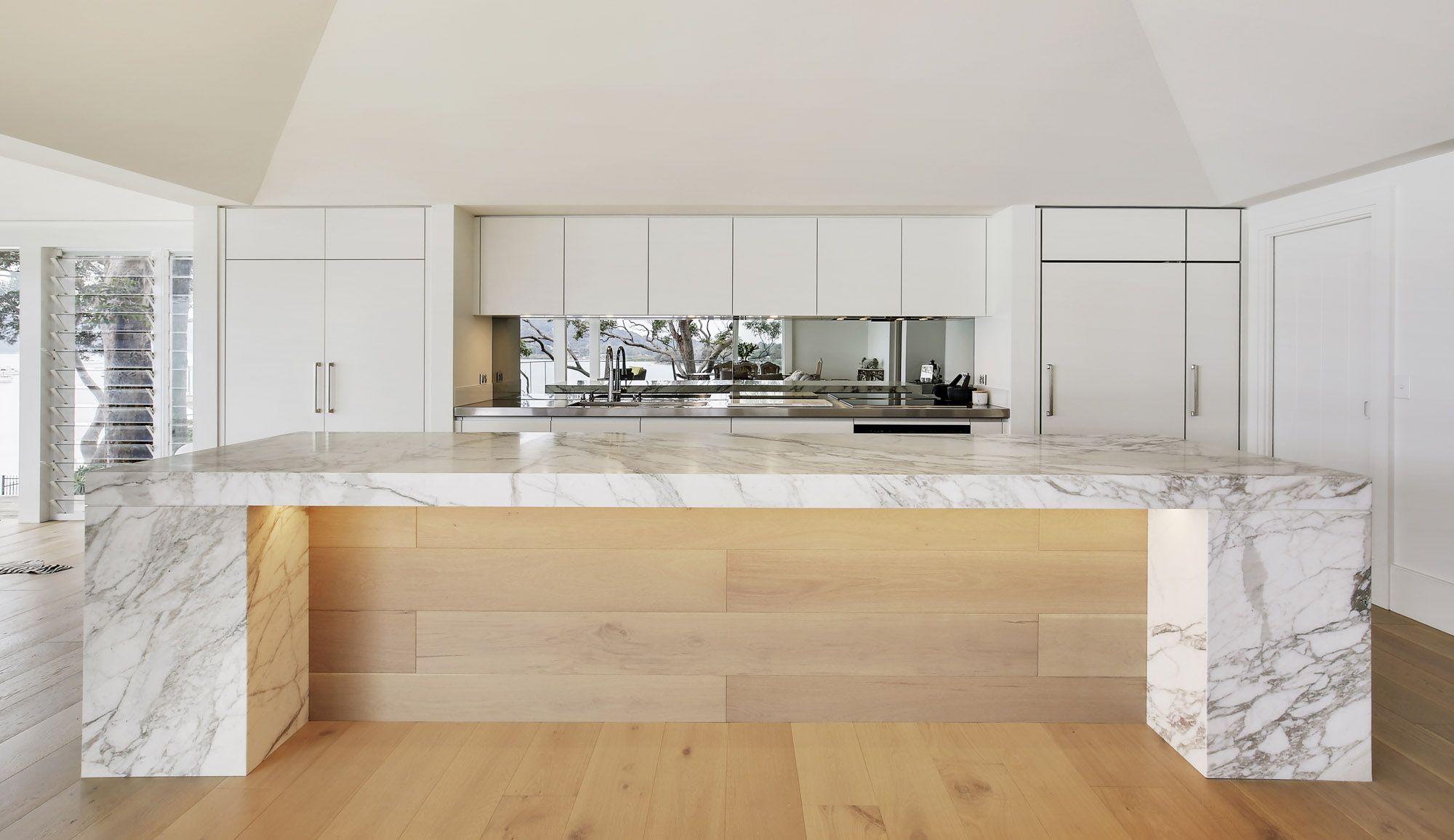Fabulous Luxury Entertainers Kitchen With Striking Calacatta Marble Machost Co Dining Chair Design Ideas Machostcouk
