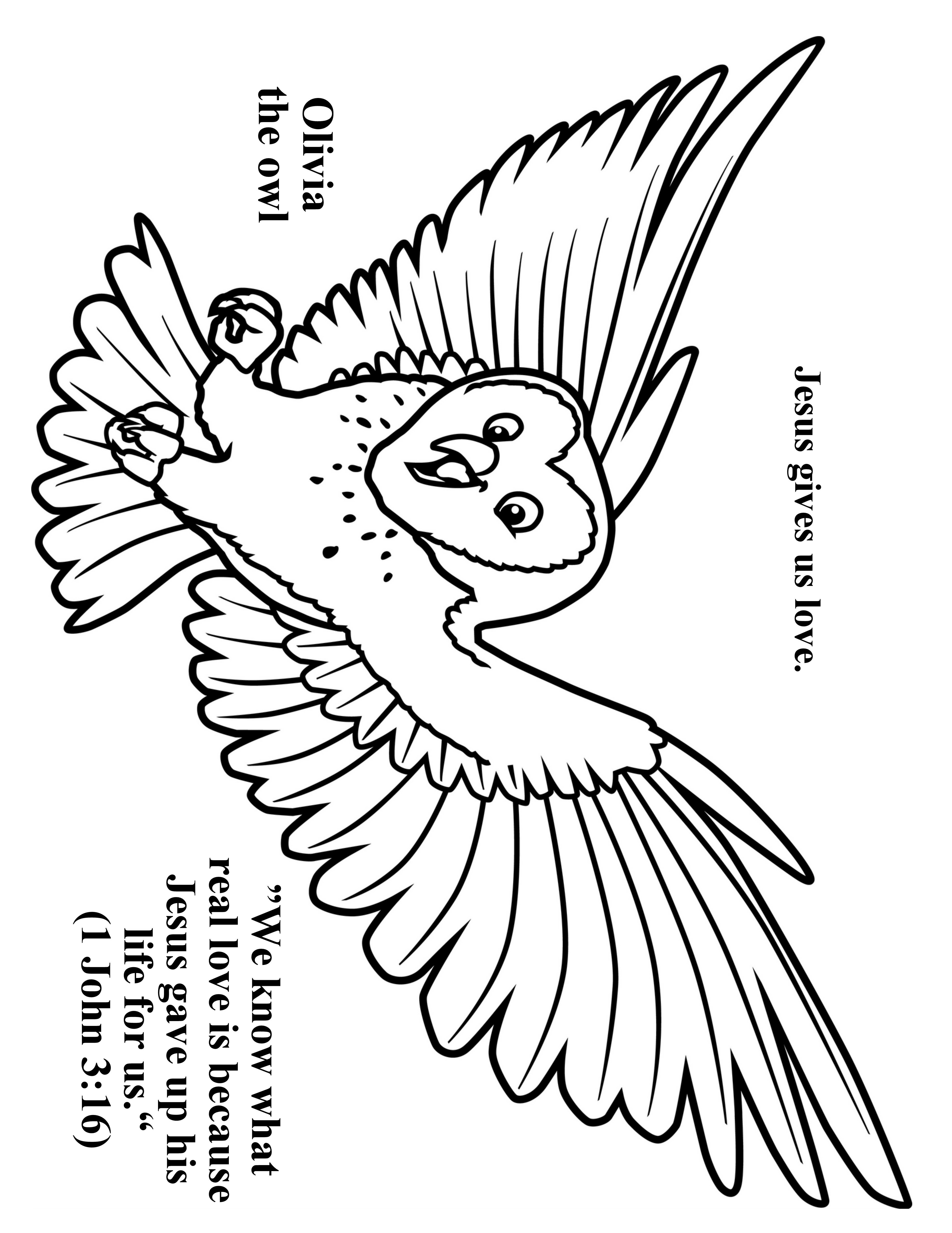 Cave Quest Day 4 preschool coloring page Olivia the Owl  cave