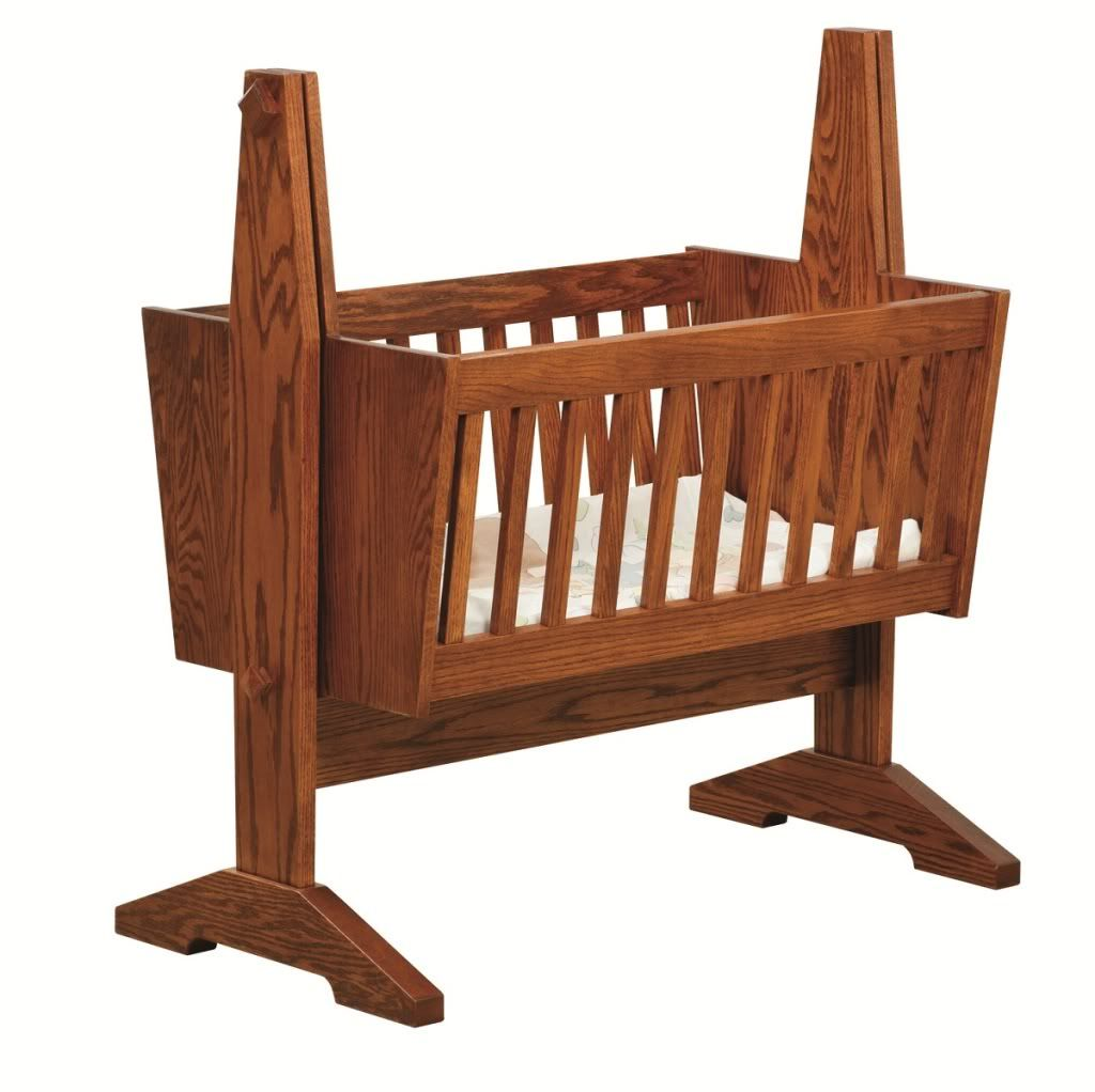 Traditional Wooden Baby Cradle With Beautiful Natural Pattern From The Wood  And Soft White Bedding Accessories Decorating Ideas For Furniture In Thu2026