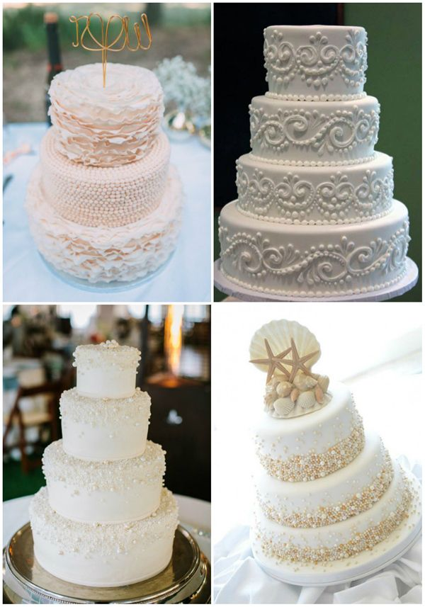 wedding cakes with pearl details for 2016 wedding