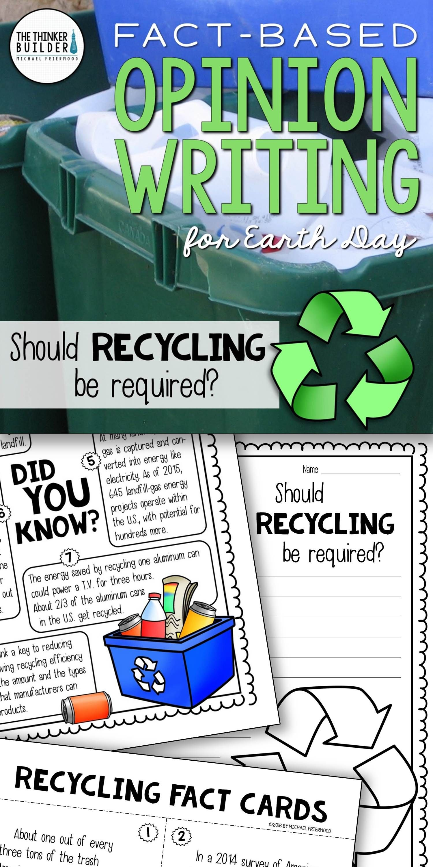 Opinion Writing For Earth Day Includes Carefully Chosen Facts For Students To Analyze Discuss And Us Opinion Writing Opinion Writing Lessons Writing Lessons