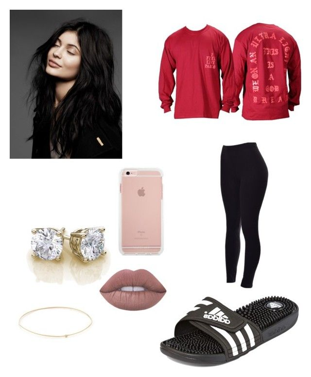 """""""Pablo #2"""" by godlytai ❤ liked on Polyvore featuring adidas, Jennifer Meyer Jewelry and Lime Crime"""