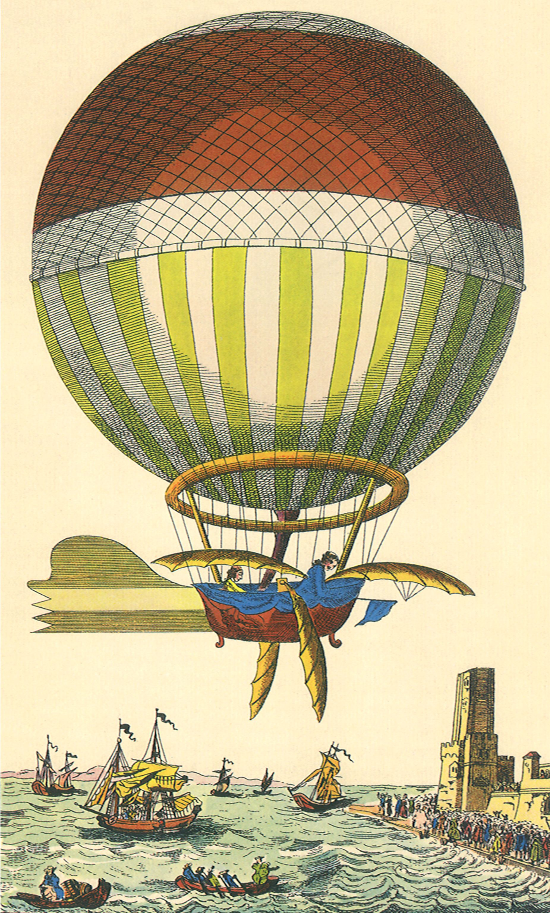 Vintage Steam Punk Flying Machine, Hot Air Balloon - The ...