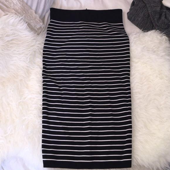 Black/white striped XoXo skirt Black/white size medium like new. XOXO Skirts Pencil