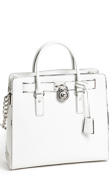 Michael kors large leather Hamilton in white. I purchased this purse a  couple months ago and I absolutely love it! ad5982a953