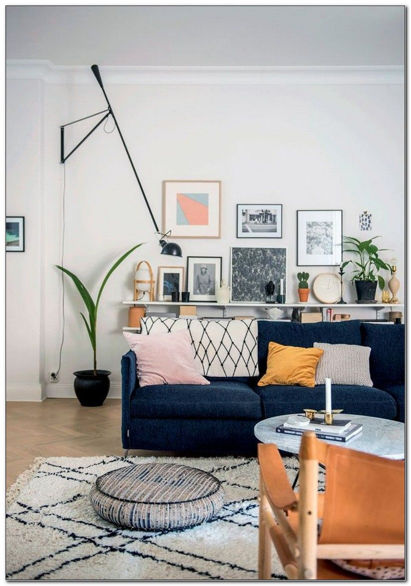 Decorating Around A Navy Blue Sofa Blue Sofas Living Room Blue