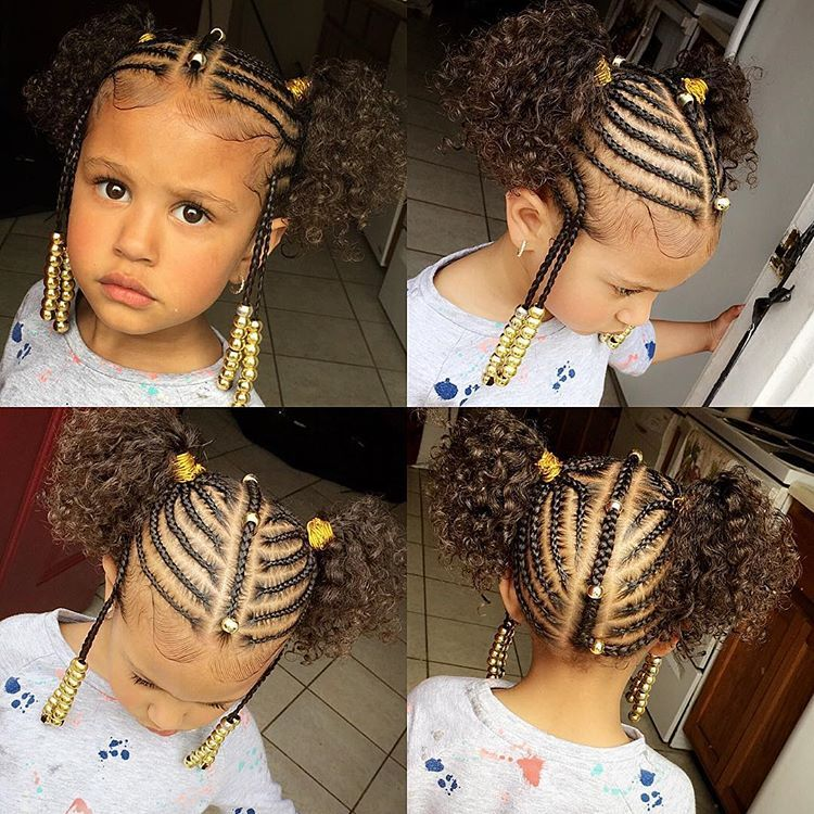No Weave Added Kids Braids Kidsbraids Naturalhairstyles Neatbraids Kidsbraids Kidsha Baby Girl Hairstyles Hair Styles Girls Hairstyles Braids