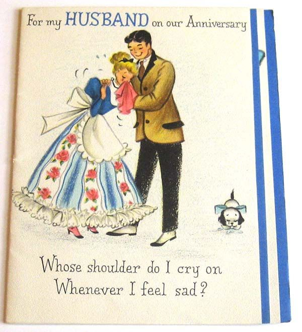 Vintage Greeting Card For My Husband On Our Anniversary Vintage Greeting Cards Wedding Anniversary Cards Greeting Cards