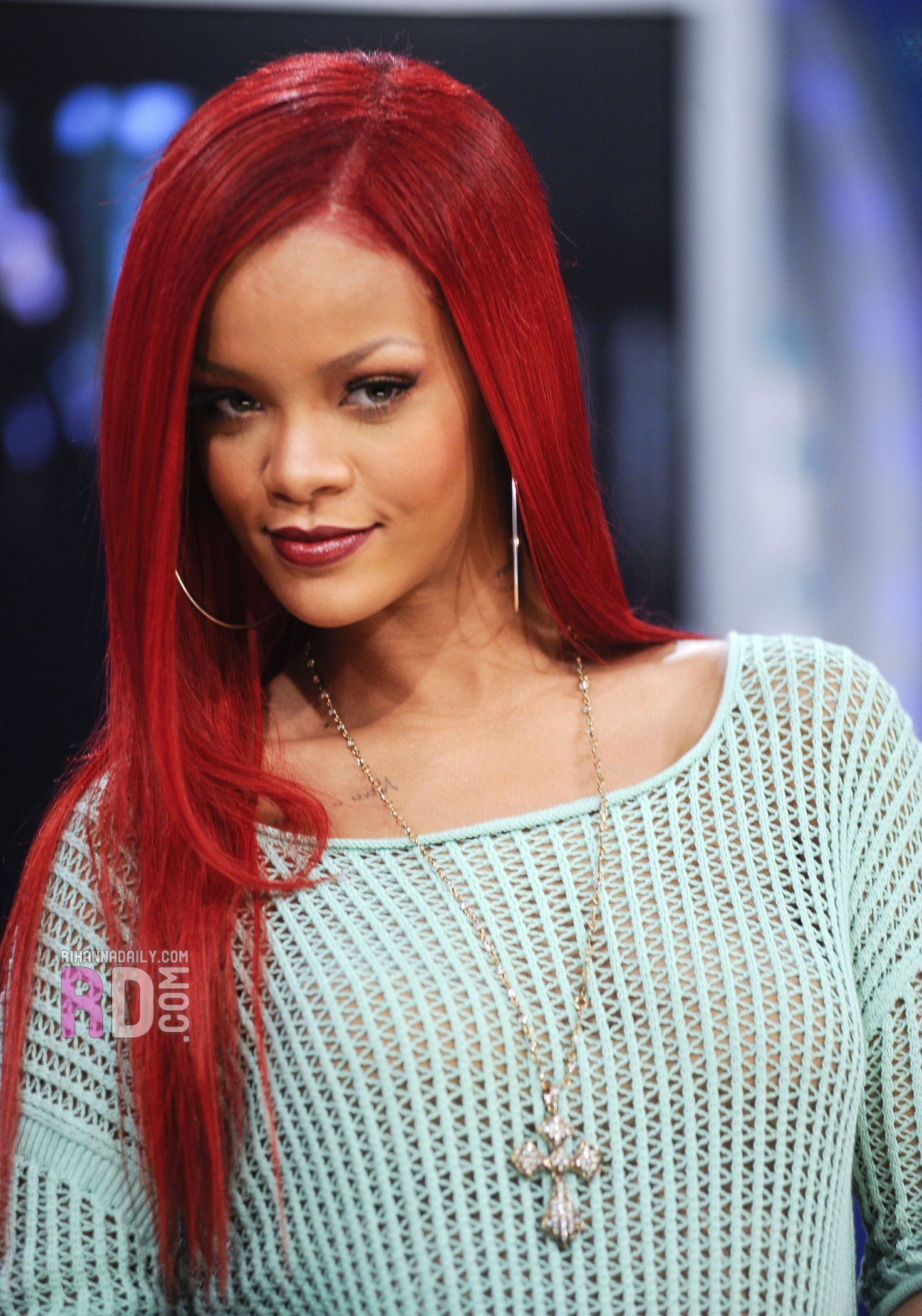 rihanna red hair hair. Black Bedroom Furniture Sets. Home Design Ideas