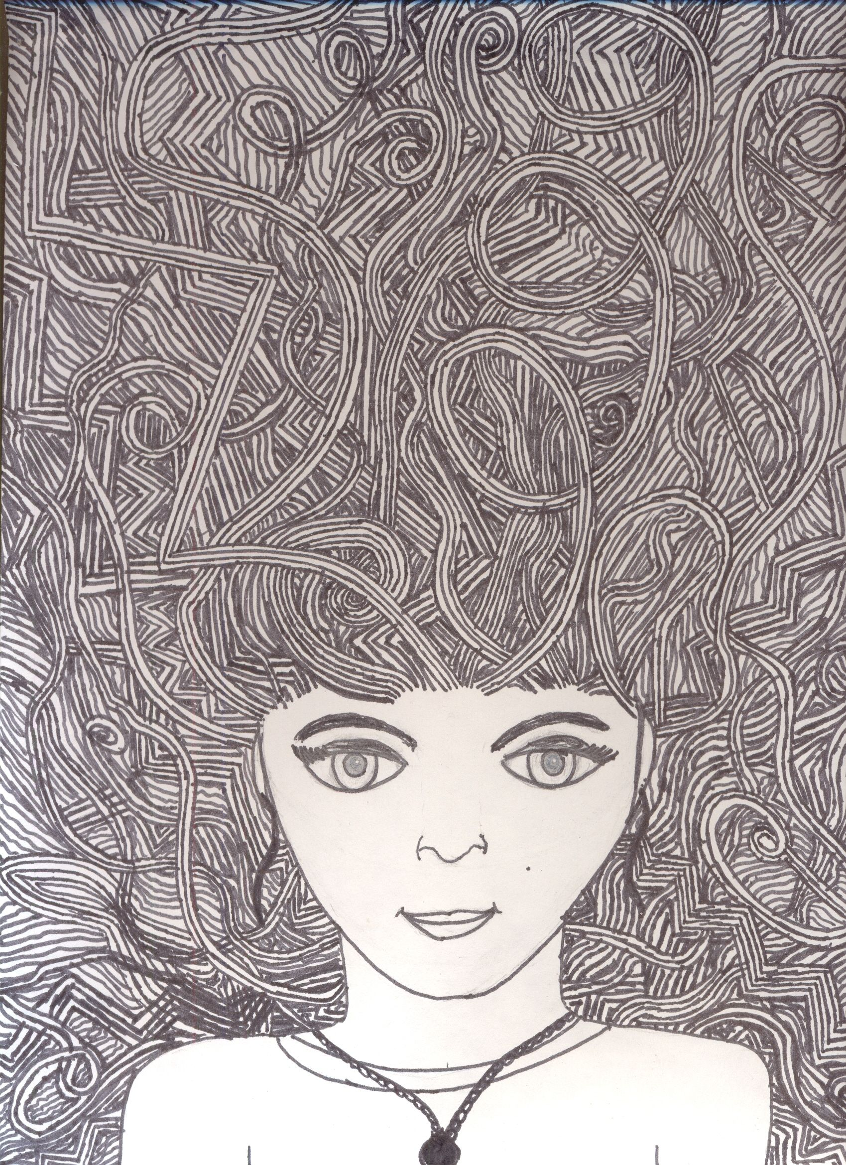 Bad Hair Day Drawing Portret Robin Voorblad