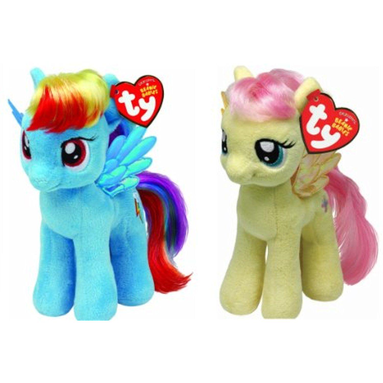 Ty My Little Pony Friendship Magic 6 Inch Beanie Babies. Collection - Set  of 2 Plush Doll (Fluttershy  StuffedAnimalsTeddyBears 77c263eadd67