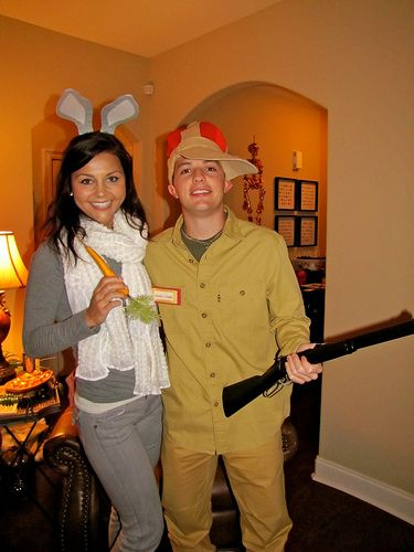 elmer fudd and bugs or you could do duffy duck d duck face