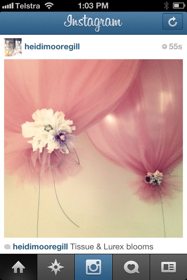 Not sure if you are into balloons or not but you could get pale green netting or use white netting with white & green flowers.  Very pretty and inexpensive