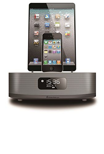 Chelsea Home Imports Apple Certified Dual Docking 30 Pin Lightning Ipod Iphone Ipad Alarm Clock Speaker Dock With Bluet Chelsea Dock Best Home Theater System