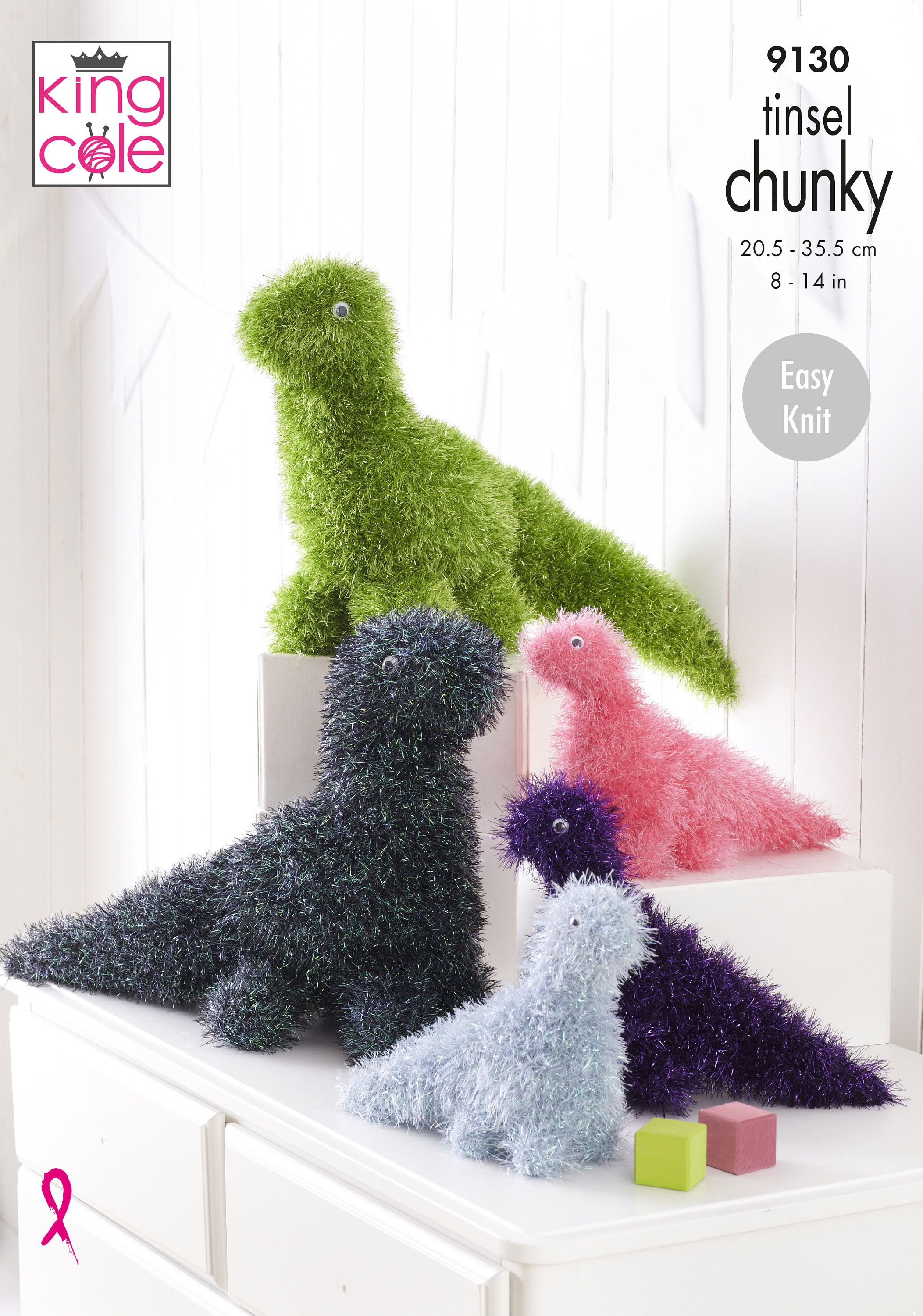 TINSEL FROGS TOY KNITTING PATTERN  USING TINSEL CHUNKY YARN KING COLE 9048