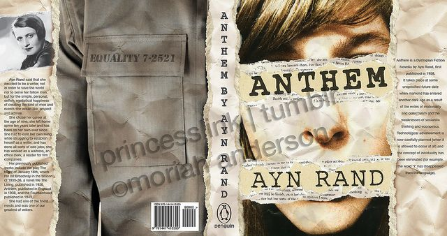 Ayn Rand Book Cover Art : Book cover redesign anthem by ayn rand my art pinterest