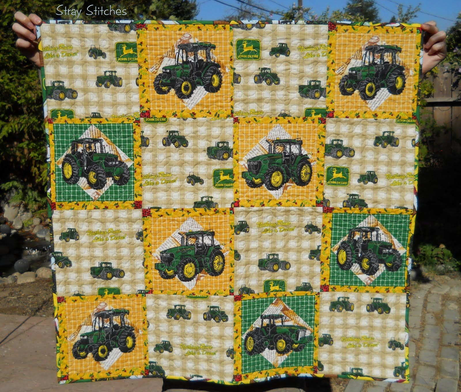 John Deere Quilt Patterns : John deere quilt patterns for little boys google search