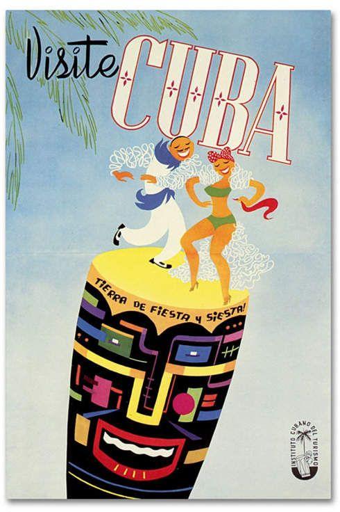 Vintage Apple Collection 'Vist Cuba' Canvas Art - 16 x 24 #visitcuba