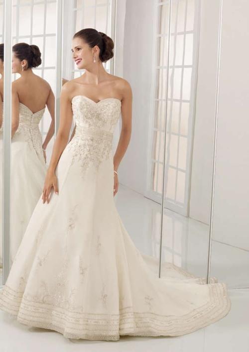 Mori Lee 2413 Strapless Wedding Dress #ShopSimple | Vestidos ...