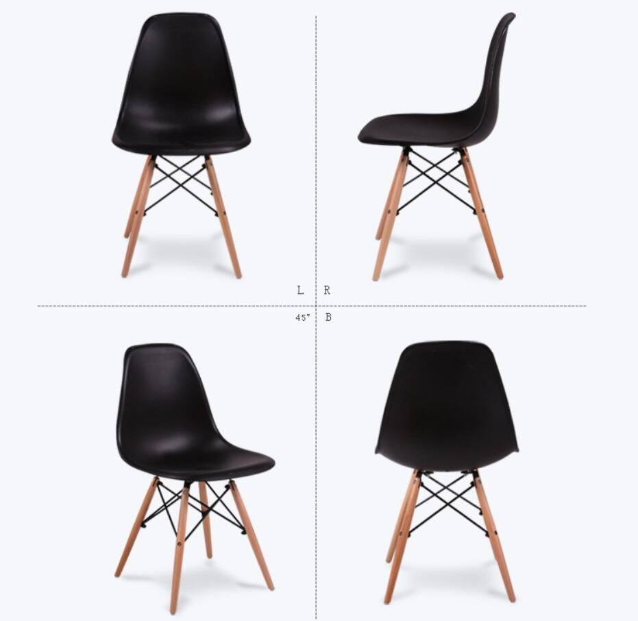 LANSKAYA 4 Pieces Of Set Simple Fashion Creative Leisure Coffee Design  Stylish Contemporary Plastic Chair Dining