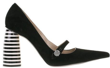 7c73e26cd04 marc jacobs Mary Jane Pumps in Black Calfskin Suede - Lyst