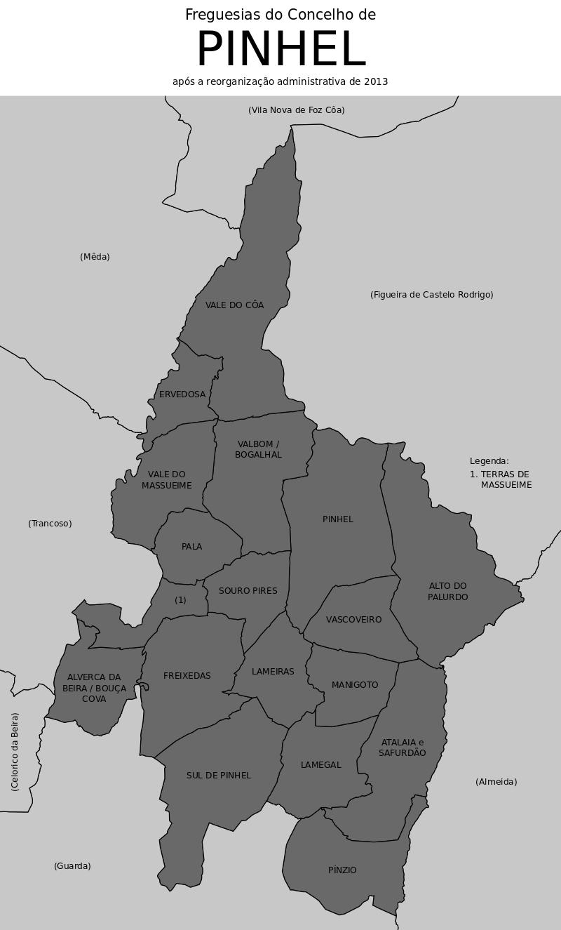 Freguesias do concelho de Pinhel