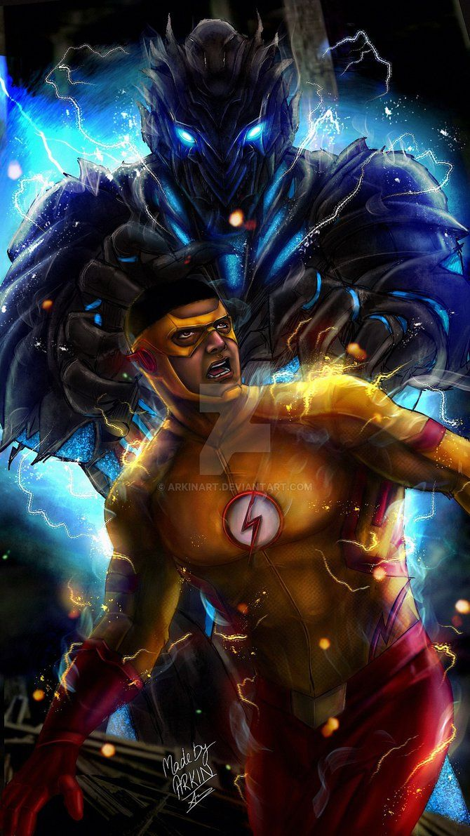Kid Flash Vs Savitar By Arkinart Flash Vs Kid Flash Flash