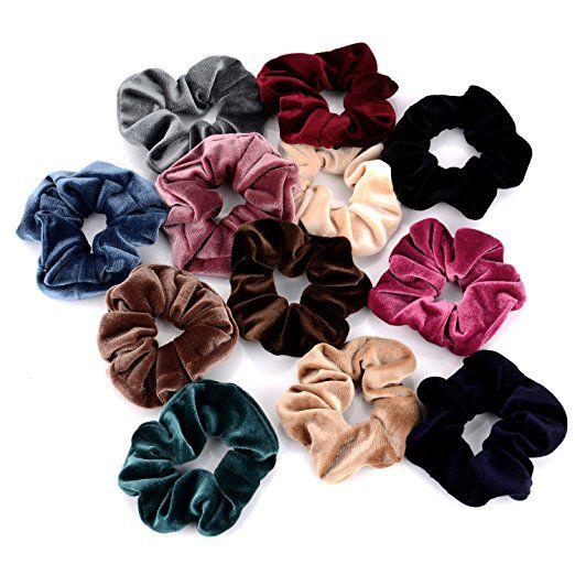 Amazon.com : Whaline 12 Pieces Hair Scrunchies
