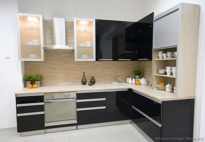 13 Amazing Kitchens With Black Appliances Include How To Decorate Magnificent Kitchen Cabinets Modern Review