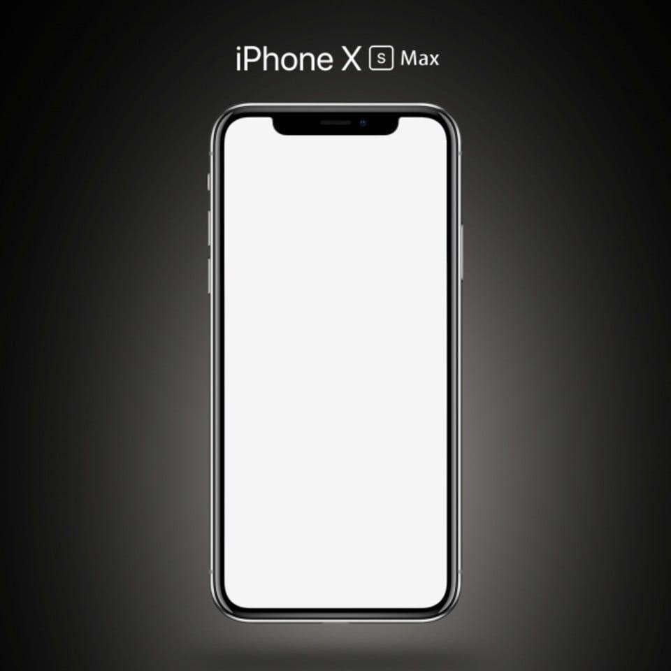 Iphone Xs Max Cinza Modelo Iphone Mobile Mockup Iphone Mobile