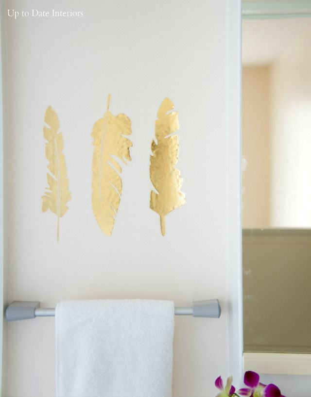 Gold Feather Decals    Target