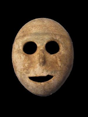 World's oldest mask. It is made of stone, from the modern-day Palestinian territories in Israel & dates to 7000 BCE, making it 9,000 years old