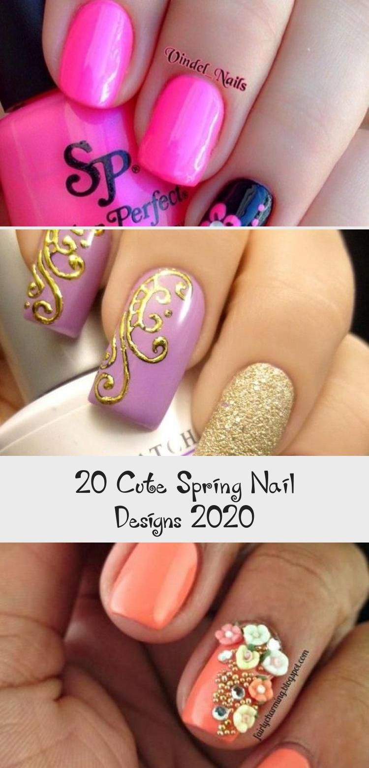 Photo of 20 Cute Spring Nail Designs 2020 – Design