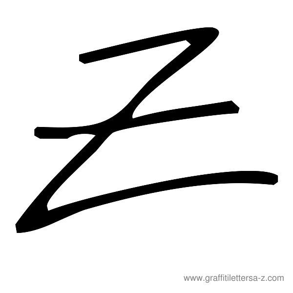 Number Names Worksheets : how do you write the letter z in cursive ...
