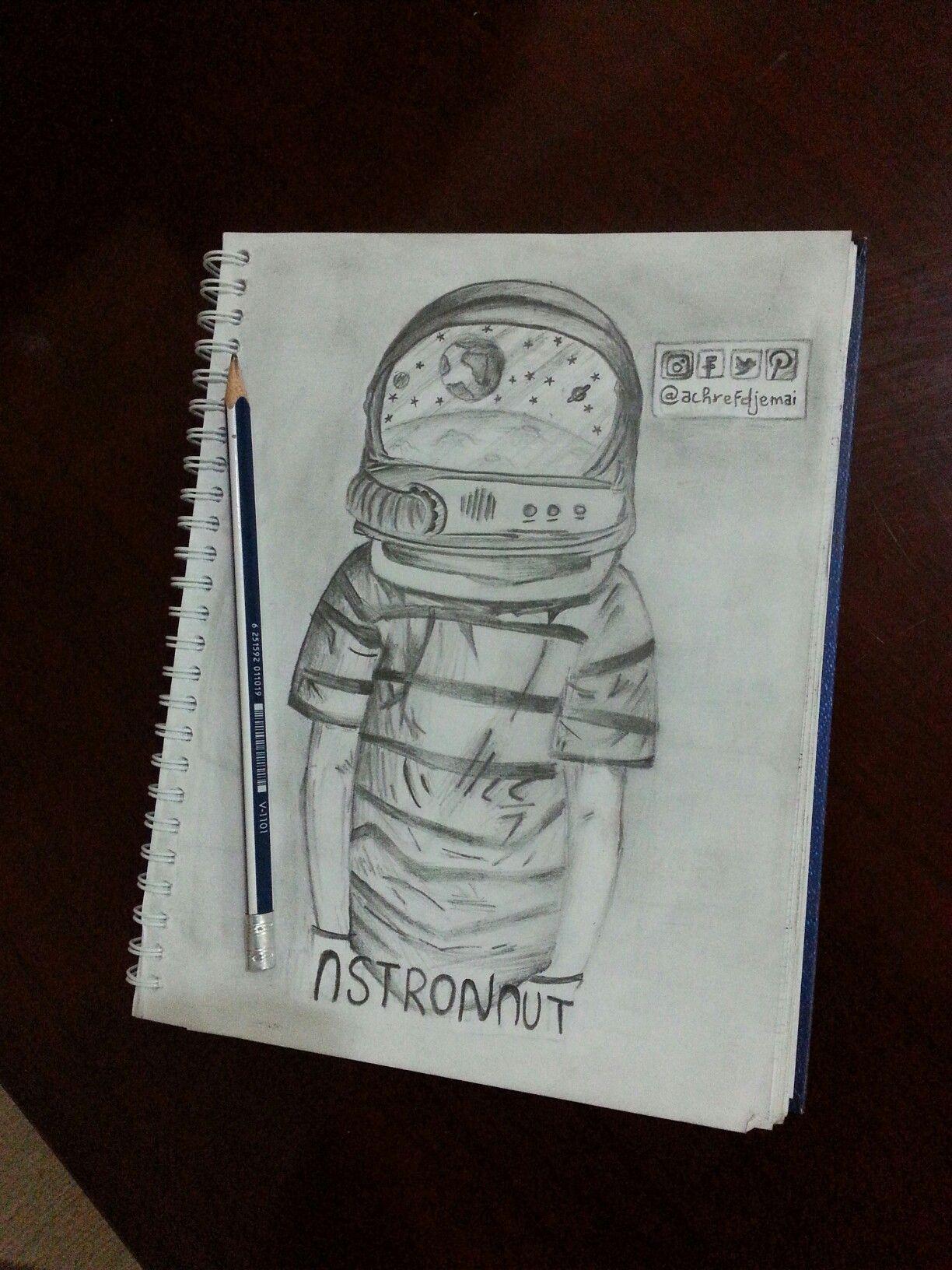 A painting of helmet boy ✌ rate it plz draw drawing sketch sketchbook paint pencil space wonder artwork art pinterest