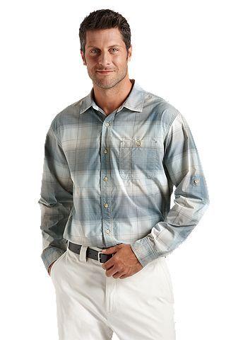 35f779068ba  Coolibar Sun Protection You Wear Sun Protection You Wear UPF 50+  Summerweight Plaid Shirt