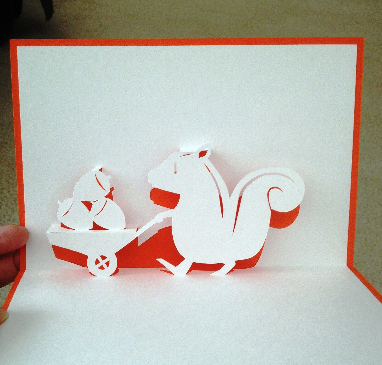 Scrapbook ideas pop up - Squirrel Pop Up Card Template From Handmade Papercraft Club At Www5d Biglobe
