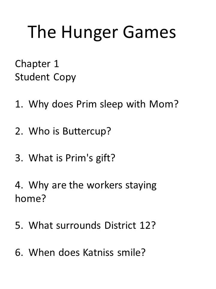 Hunger Games is the focus of this guided reading packet. If your ...