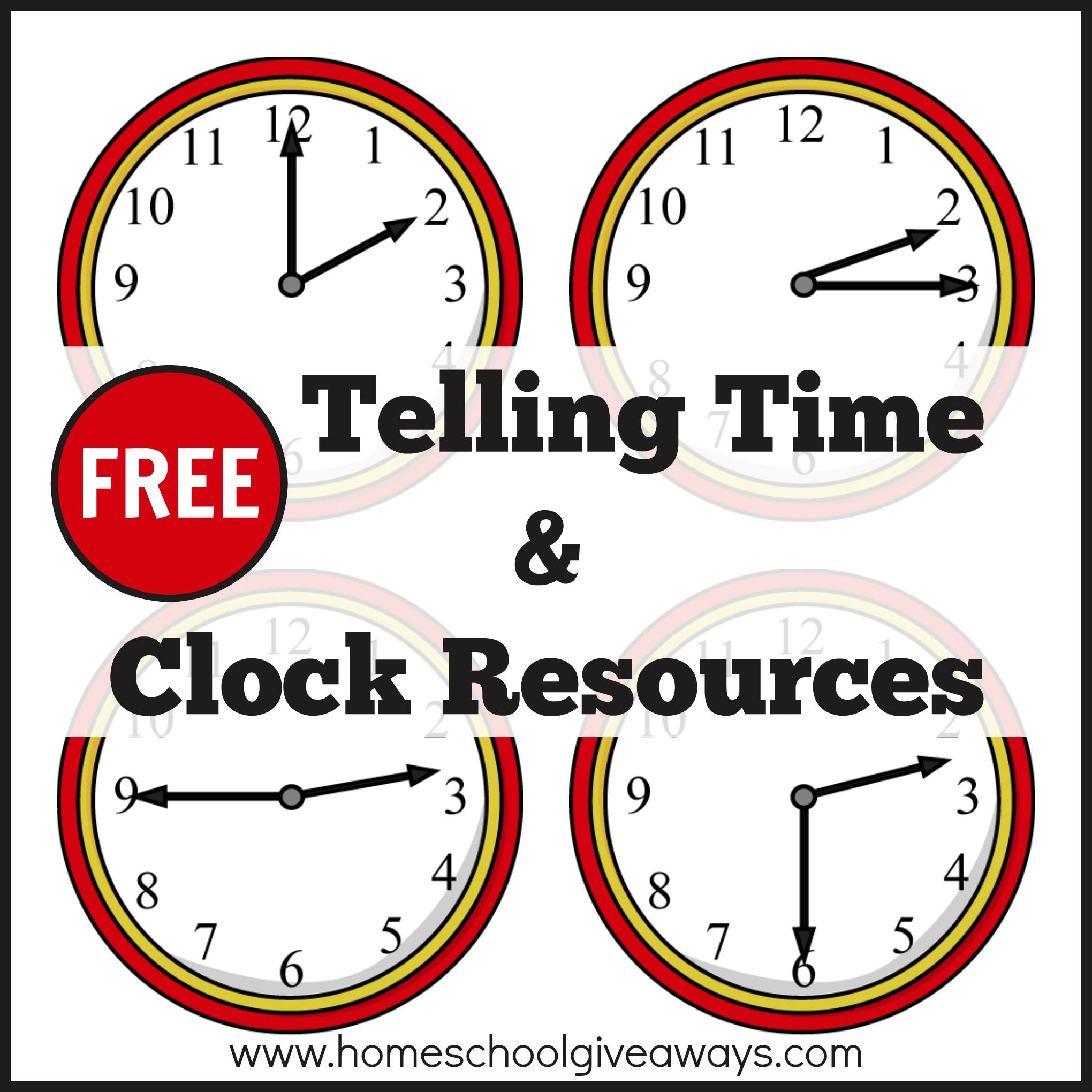 Free Telling Time And Clock Resources