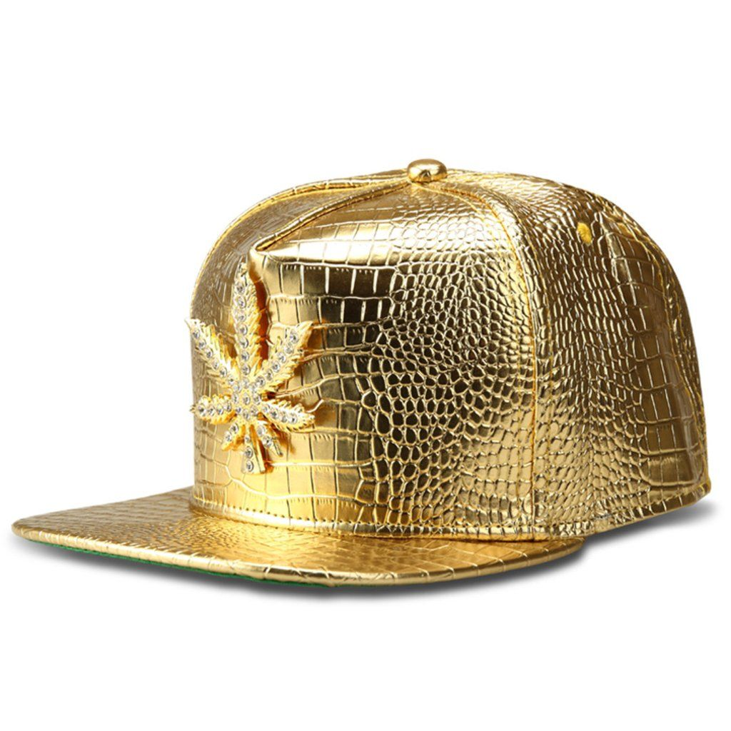 d4565280d58 Dank Master Gold Weed Leaf Snapback - Gold - Dank Master Hats - weed hat
