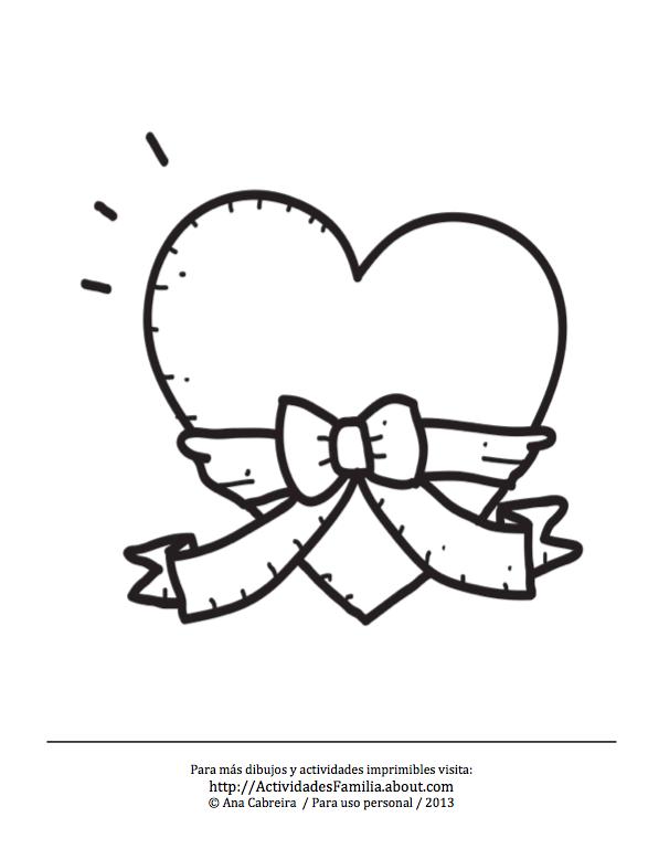 10 Dibujos de corazones para imprimir y colorear | Ideas para el ...
