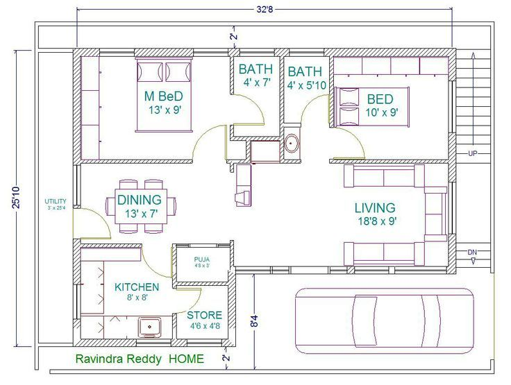 29 X58 Splendid Fully Furnished 3bhk North Facing House Plan As Per Vasthu Shastra North Facing House House Plans 2bhk House Plan