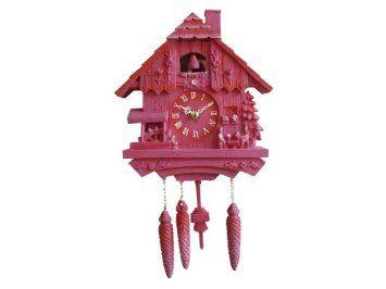 Amazon Com Silly Wall Clock Cuckoo Polyresin Pink Home Kitchen Wall Clock Cuckoo Cuckoo Clock Clock