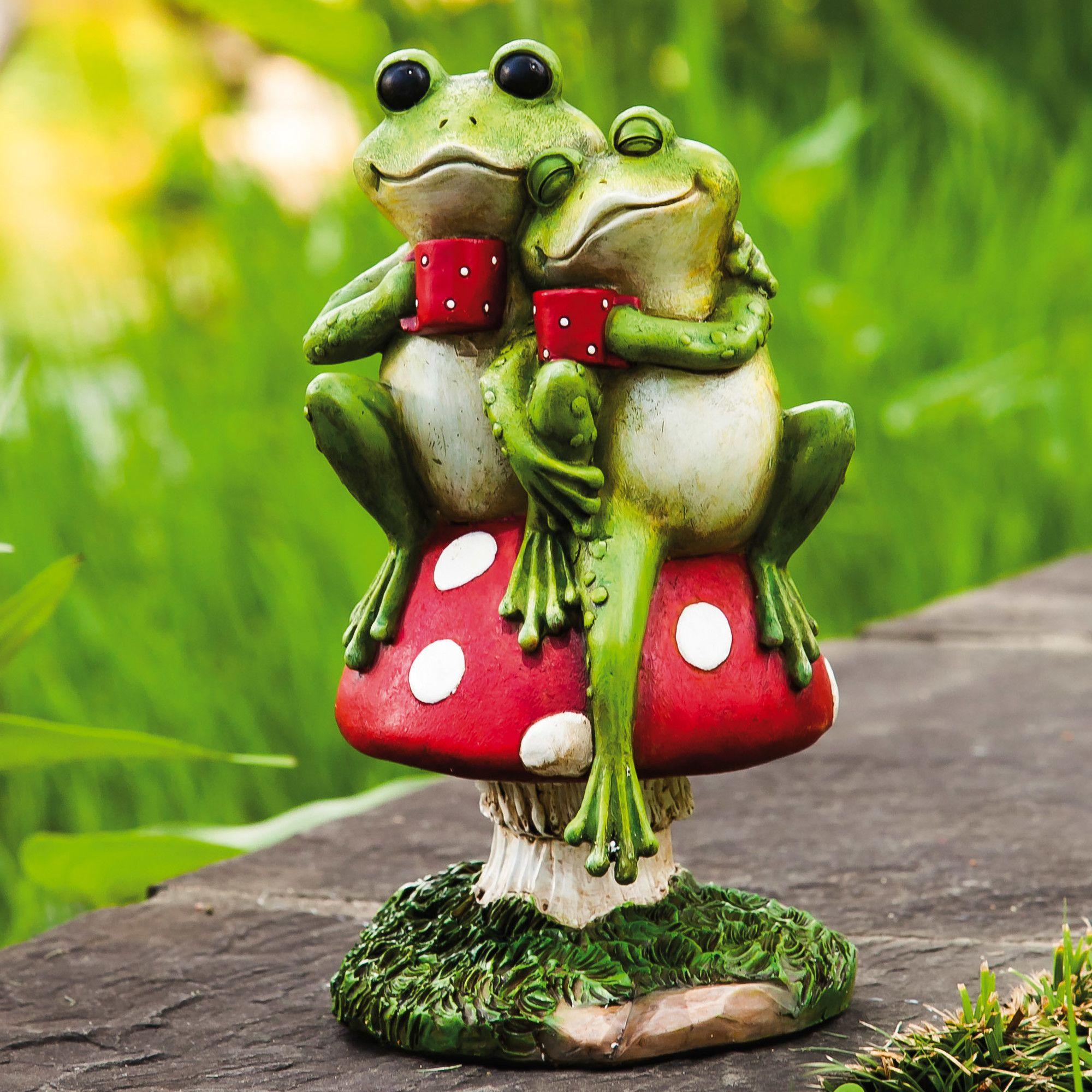 Cup Of Joe Frog Statue In