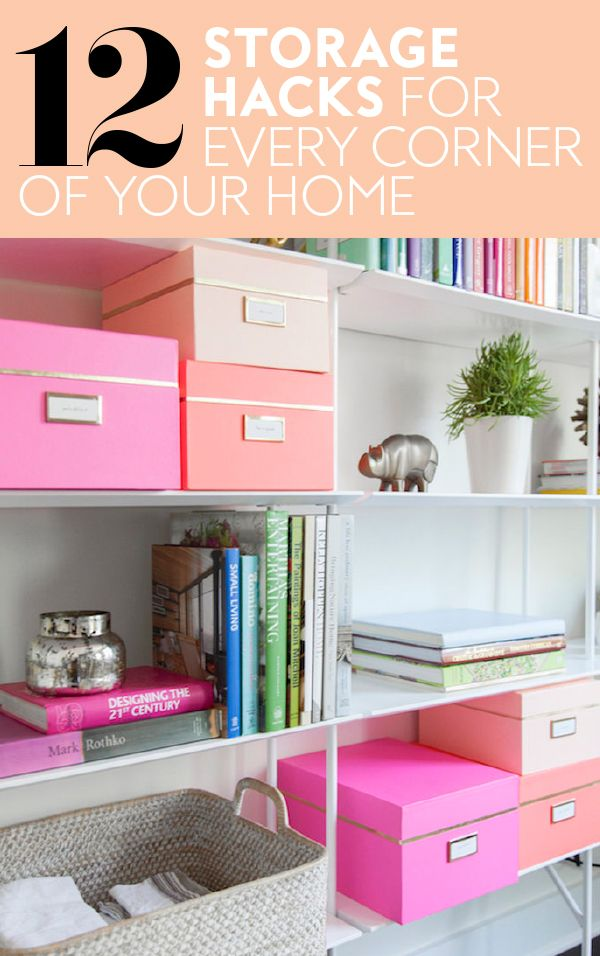 Colorful Storage Hacks For Every Corner Of Your Home | Organizing ...