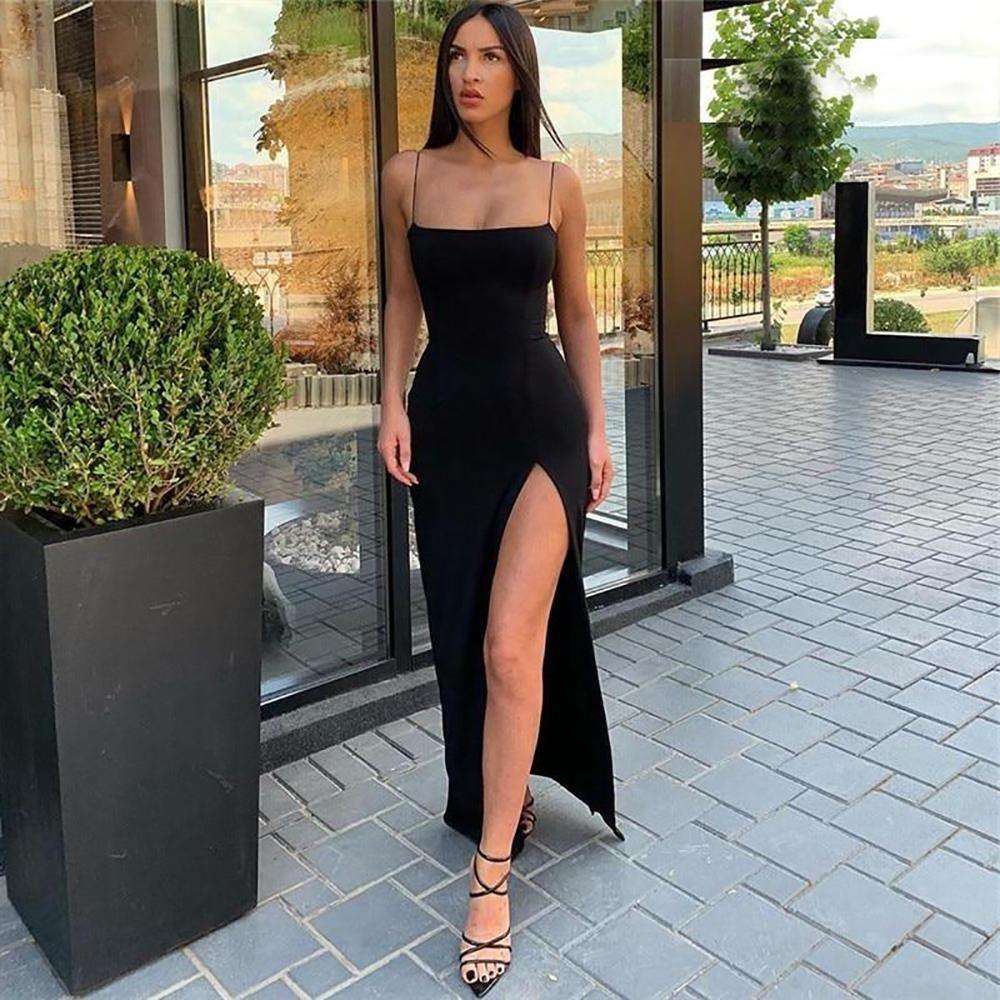 ASHORESHOP Women Summer Dress Backless Split Camis
