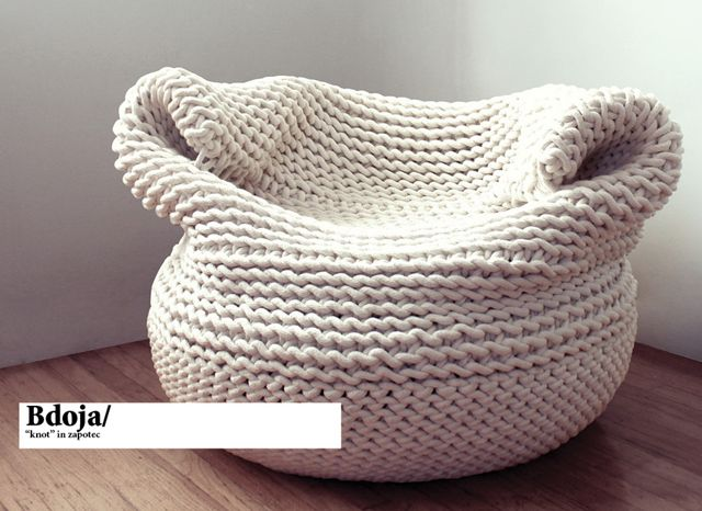 Comfy Knitted Chair Knitted Home Decor And Accessories